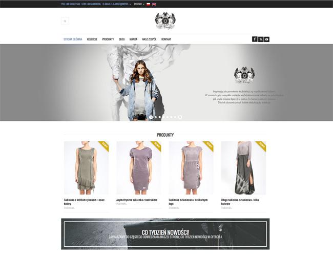 Strona internetowa dla projektanta mody